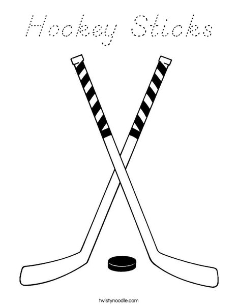 hockey stick coloring page hockey sticks coloring page d39nealian twisty noodle page hockey stick coloring