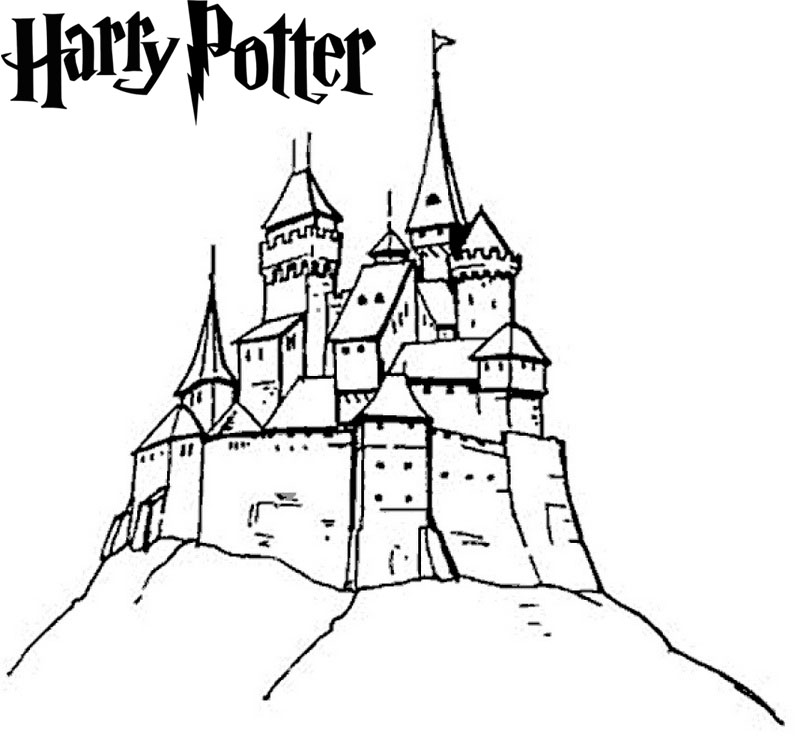 hogwarts castle coloring awesome harry potter hogwarts castle coloring sheet coloring castle hogwarts