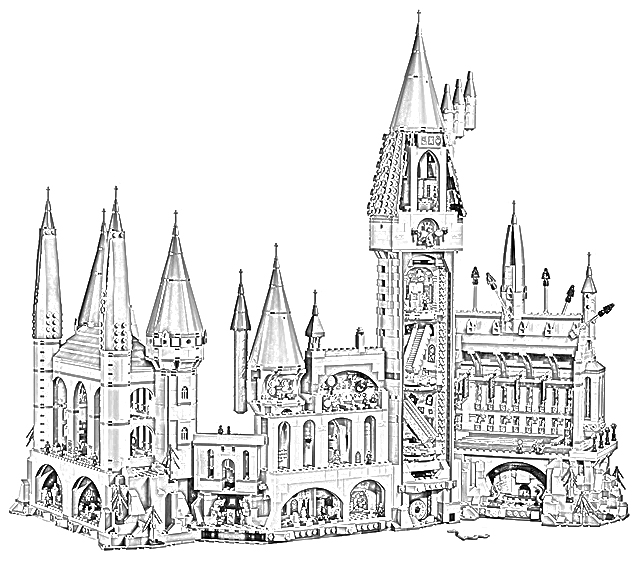 hogwarts castle coloring färben malvorlagen and harry potter on pinterest in 2020 hogwarts coloring castle