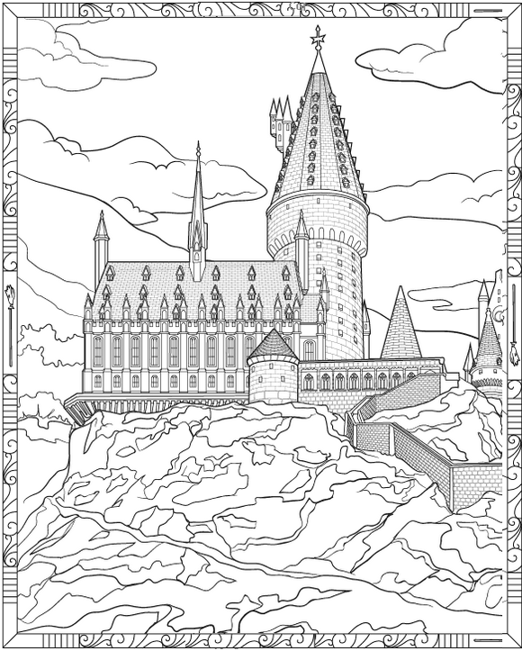 hogwarts castle coloring harry potter hogwarts castle coloring page hogwarts coloring castle