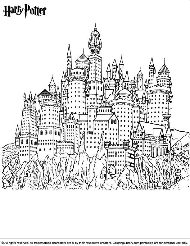 hogwarts castle coloring hogwarts castle coloring page at getdrawings free download coloring hogwarts castle