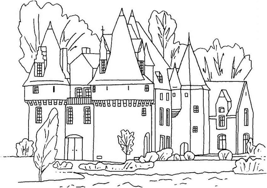 hogwarts castle coloring hogwarts castle drawing at getdrawings free download castle hogwarts coloring