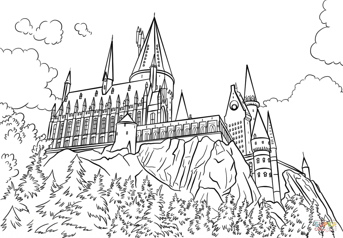 Hogwarts castle coloring