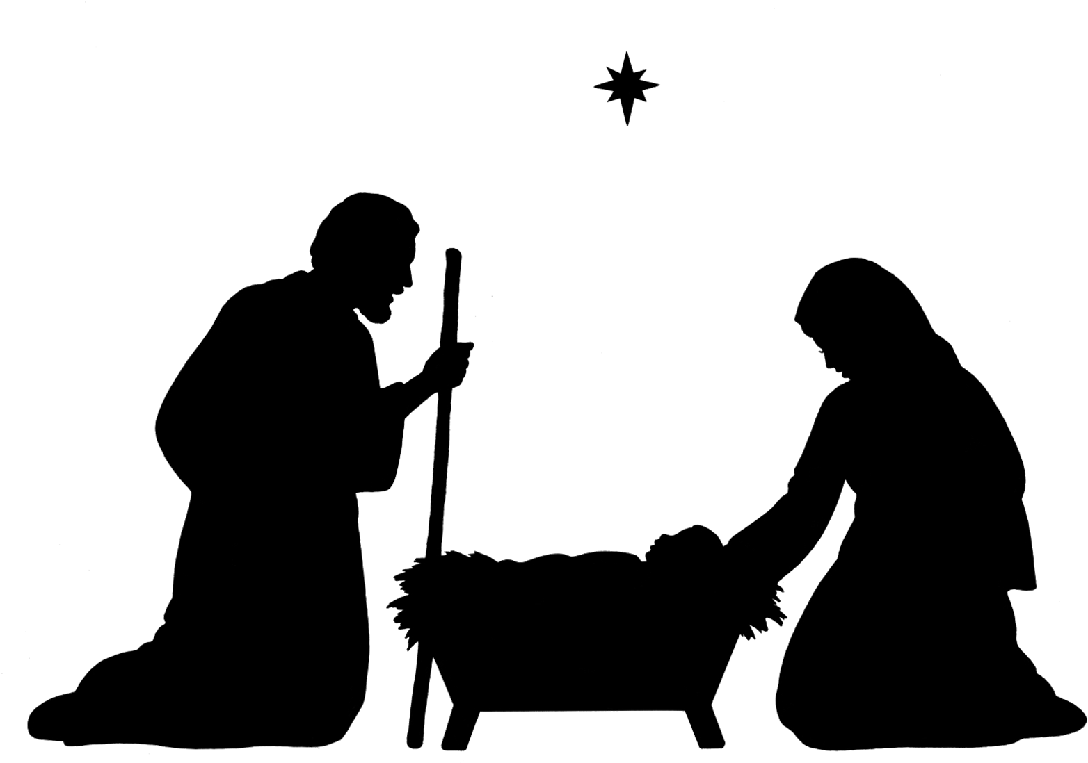 holy family silhouette clip art cute holy family silhouette manger characters vector art family clip silhouette holy