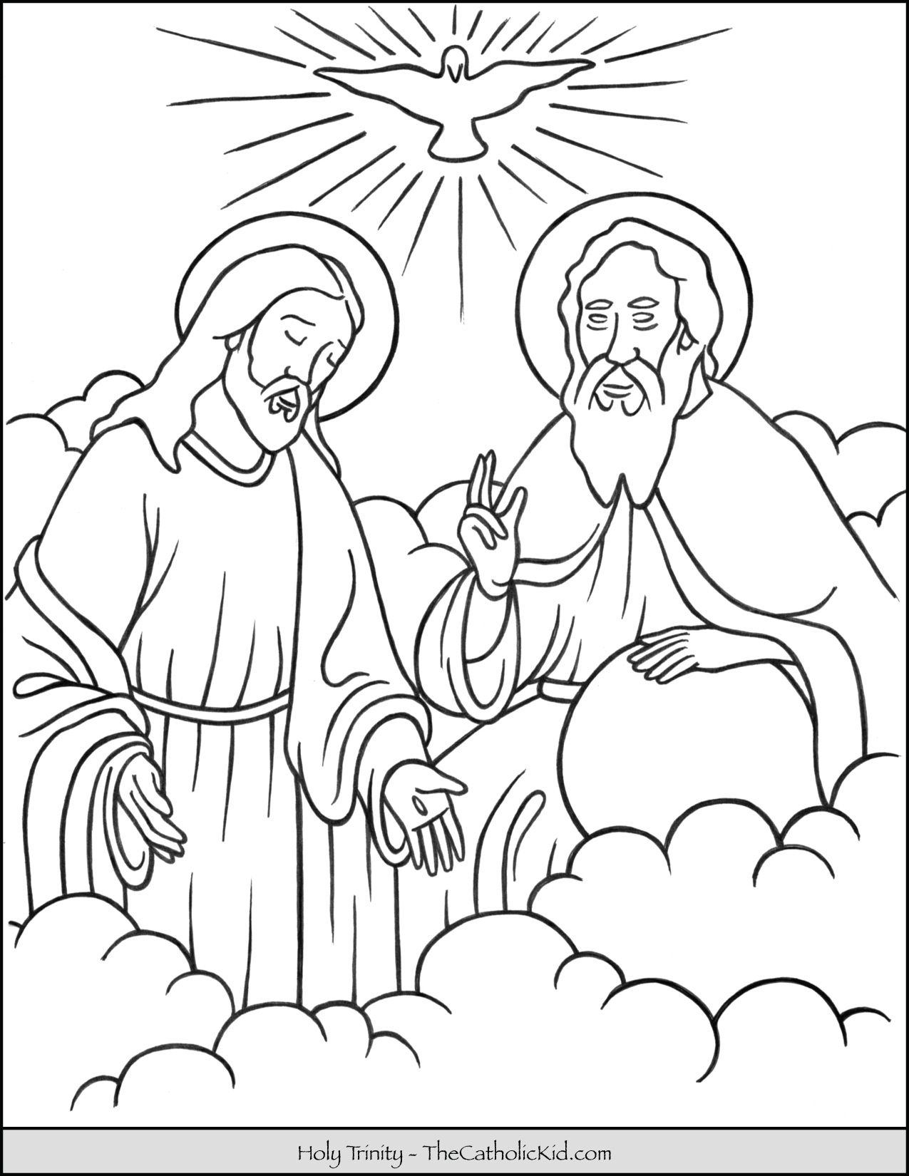 holy trinity coloring pages free holy trinity coloring page at getcoloringscom free free holy trinity pages coloring