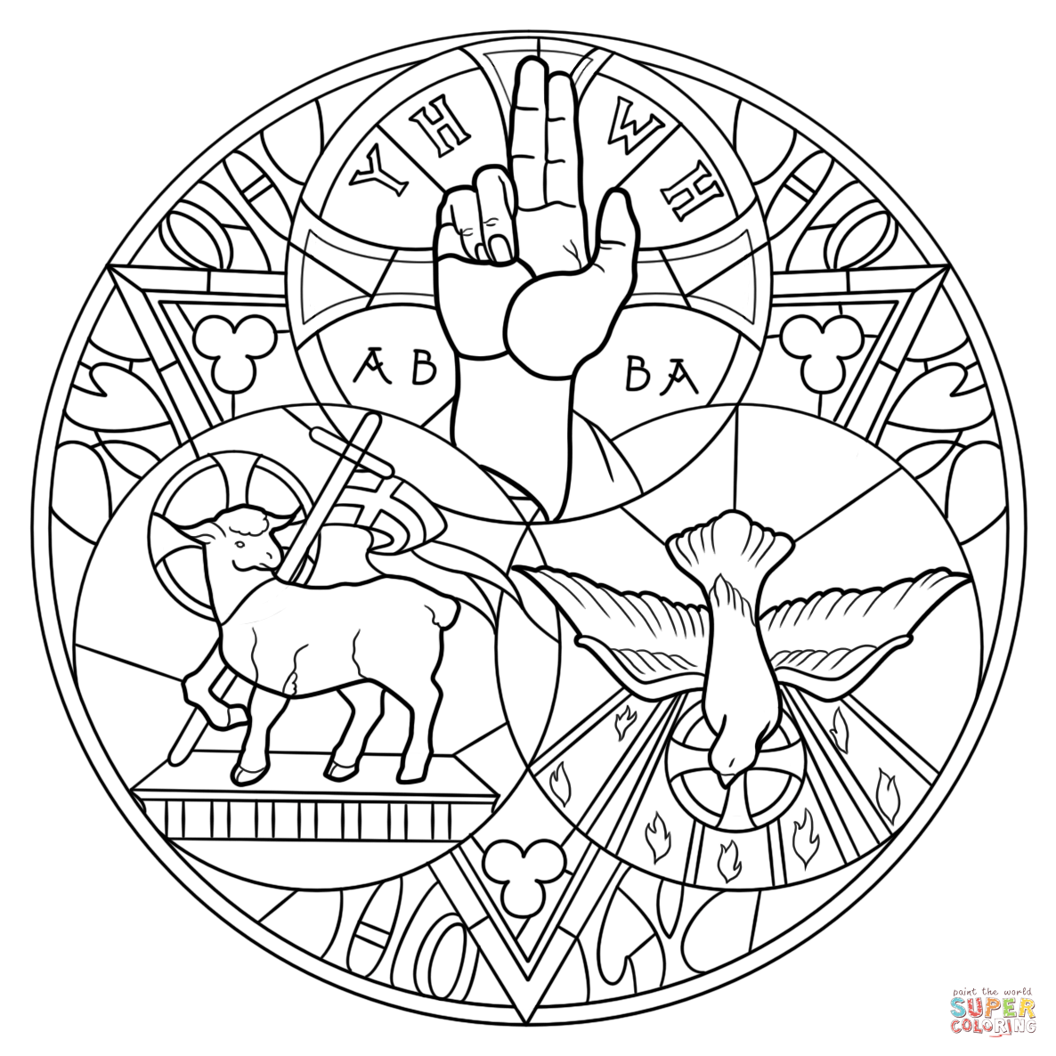 Holy trinity coloring pages free