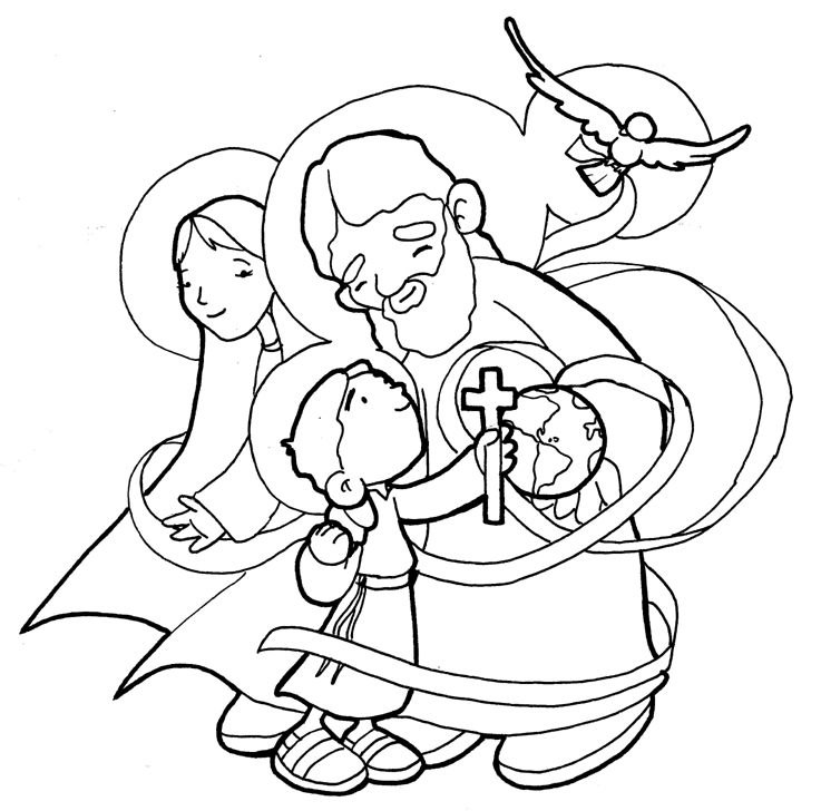 holy trinity coloring pages free holy trinity coloring page at getcoloringscom free free trinity pages coloring holy
