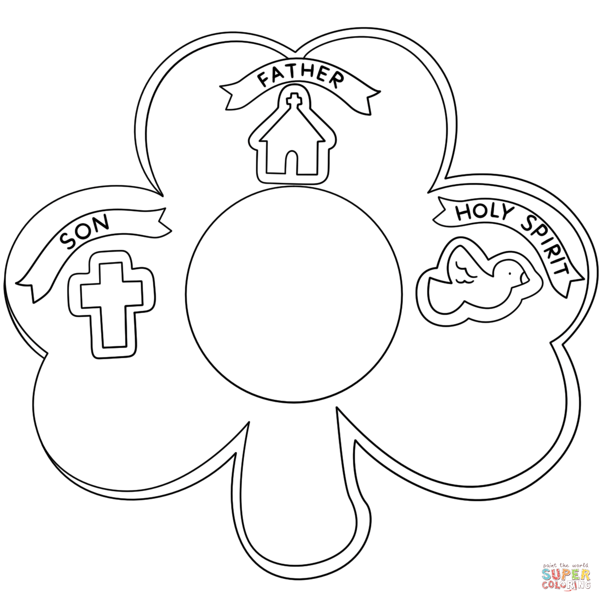 holy trinity coloring pages free holy trinity coloring page free printable pages sketch holy coloring free pages trinity