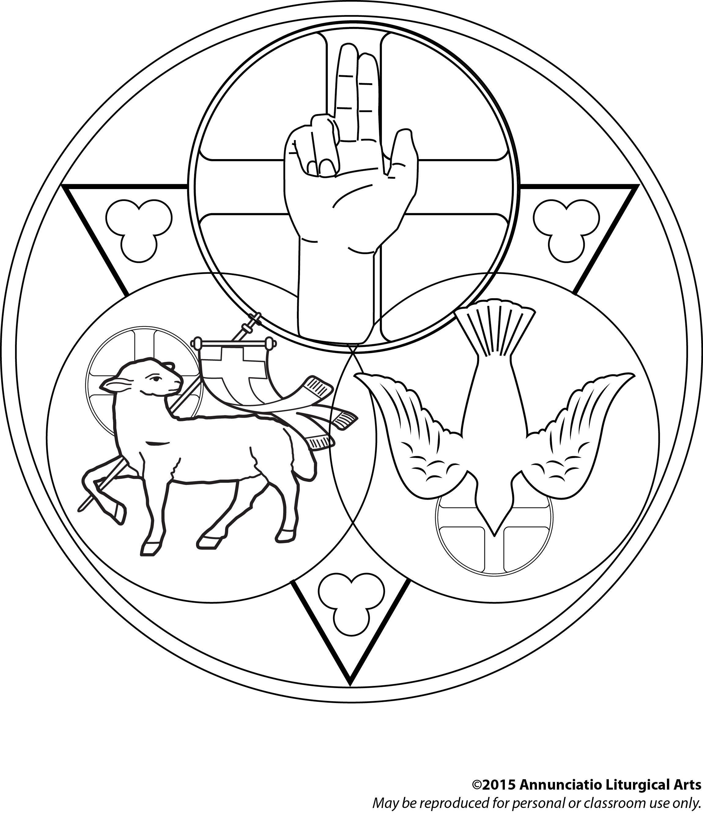 holy trinity coloring pages free holy trinity coloring page thecatholickidcom pages coloring trinity holy free