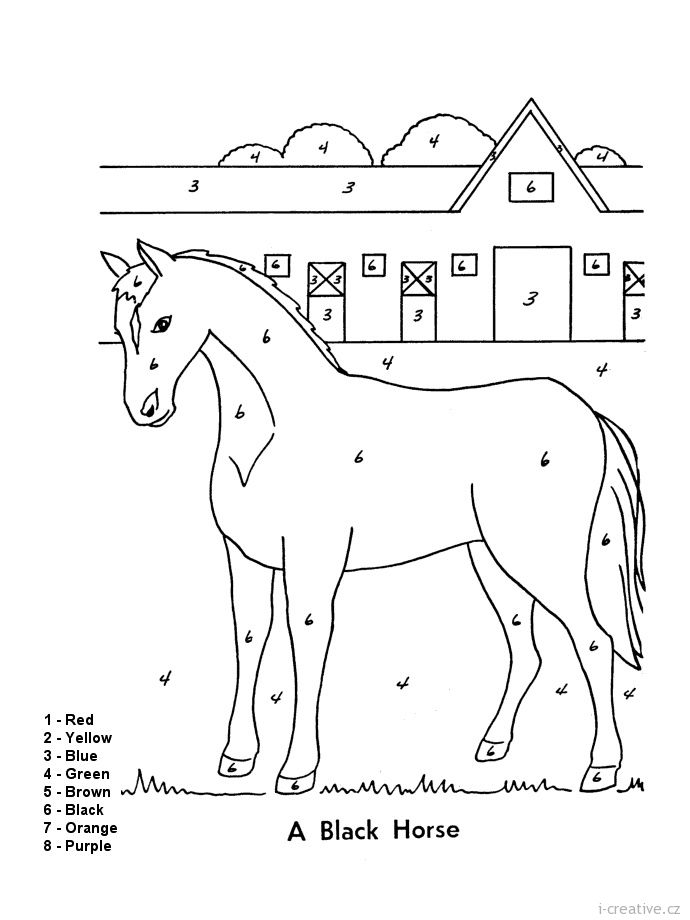 horse color by number angličtina i creativecz kreativní online magazín a horse number by color