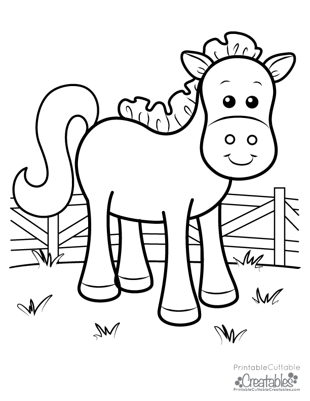 horse coloring pages for kids cute farm horse free printable coloring page for kids kids coloring for pages horse