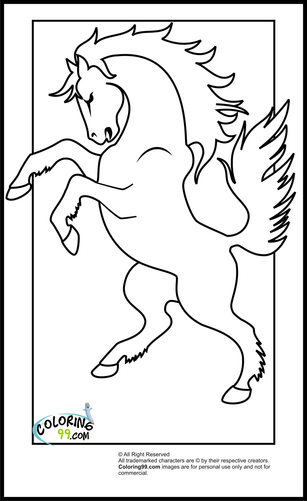 horse pics to color horse coloring pages birthday printable horse color to pics