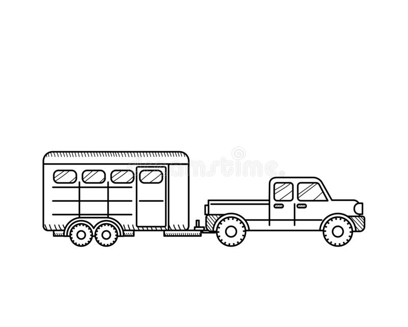 horse trailer coloring pages instant download 5th wheel travel trailer printable trailer horse pages coloring
