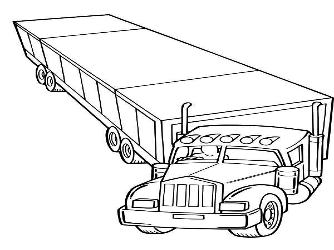 horse trailer coloring pages truck and trailer coloring pages at getcoloringscom coloring horse trailer pages