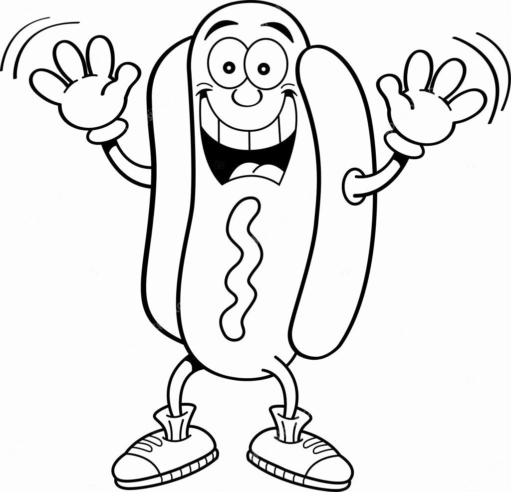 hot dog coloring food coloring pages cartoon hot dog at wwwwonderweirded coloring dog hot