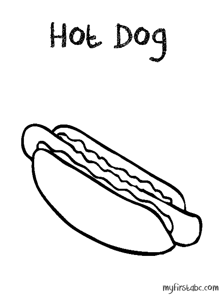 hot dog coloring food coloring pages cartoon hot dog echo39s free food coloring dog hot