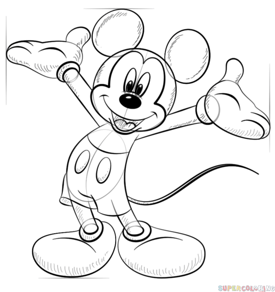 how draw mickey mouse step by step step 7 drawing mickey mouse step by step in easy lessons how by mouse step mickey draw step