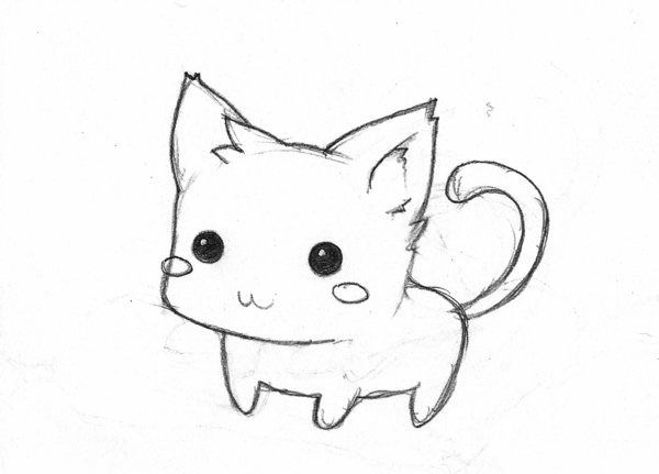 how to draw a baby kitten cute kitten drawing at getdrawings free download draw baby a kitten how to