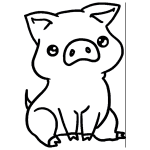 how to draw a baby pig easy cute pig drawings clipart best draw baby how pig a to