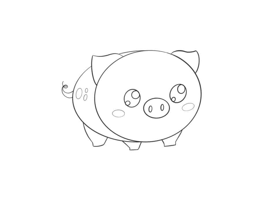 how to draw a baby pig how to draw a cute baby pig step by step drawing to a pig how baby draw