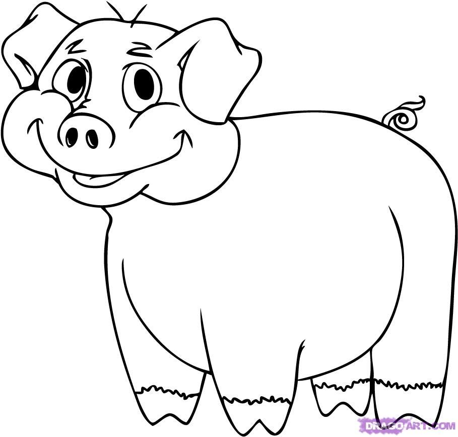 how to draw a baby pig how to draw a pig draw to how pig baby a