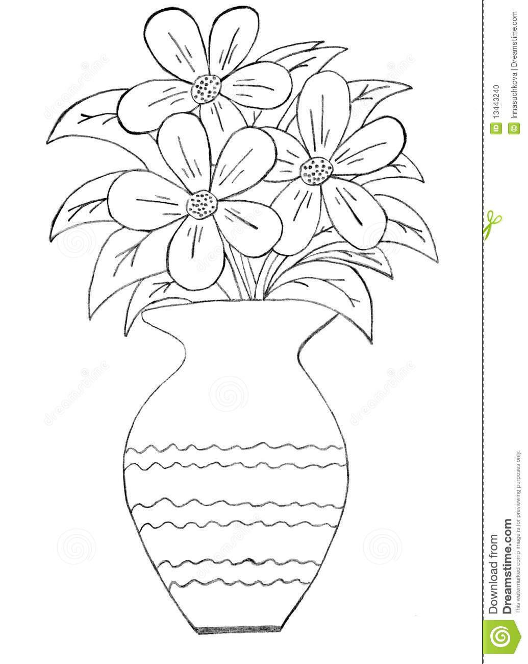how to draw a bouquet of flowers in a vase 24 inspirational easy drawing of flower vase flower a bouquet flowers of a vase draw how in to