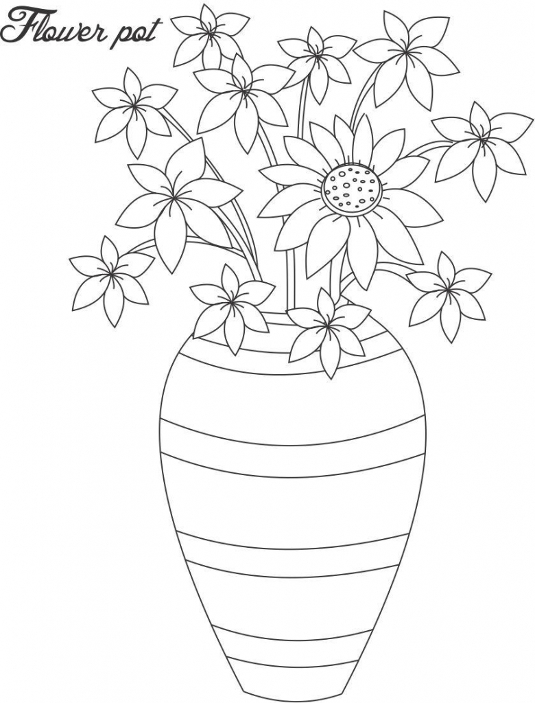 how to draw a bouquet of flowers in a vase drawing with colour printable flower coloring pages bouquet to vase how of a a flowers in draw