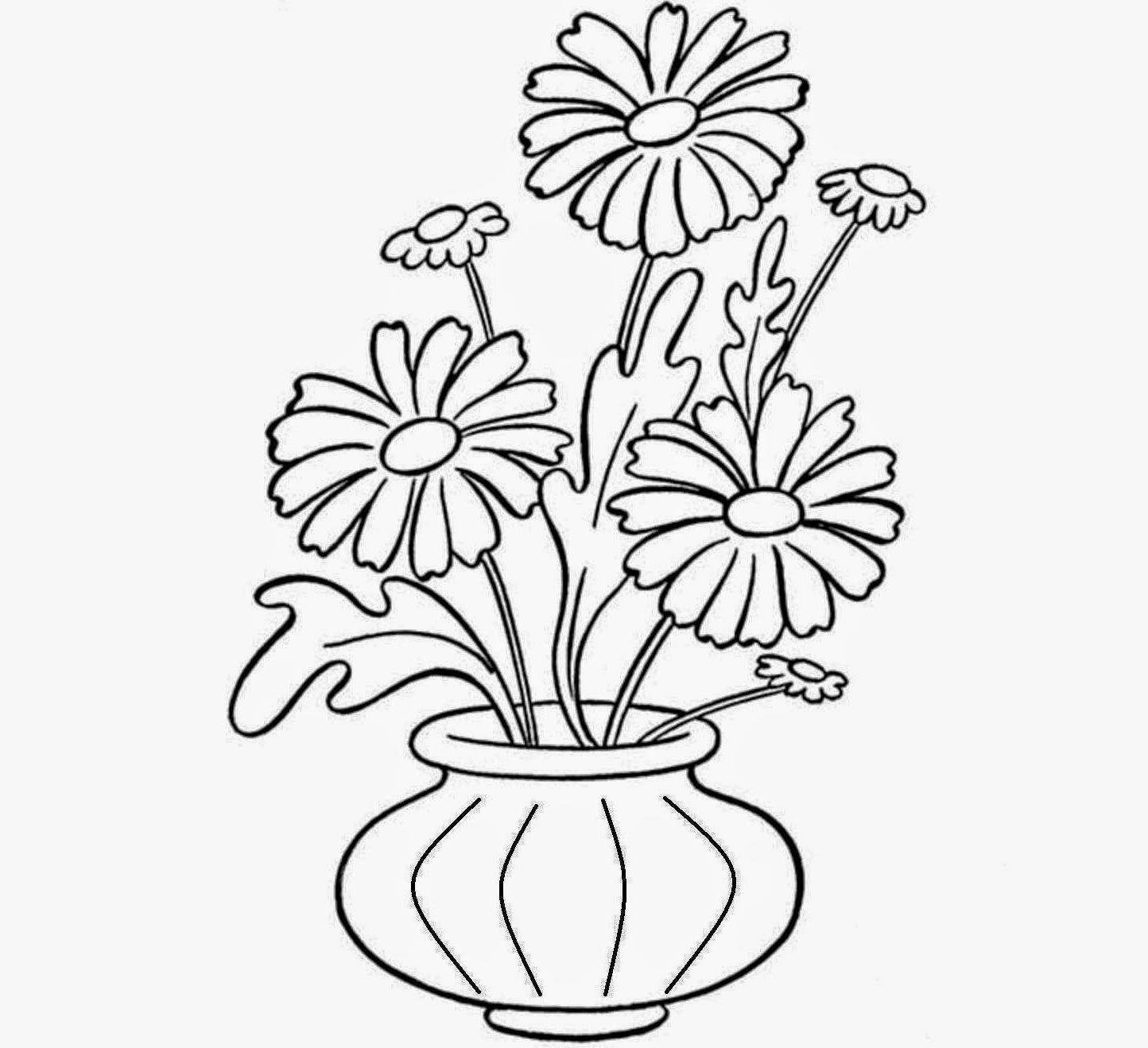 how to draw a bouquet of flowers in a vase realistic flowers drawing at getdrawings free download how of draw flowers in vase a to a bouquet