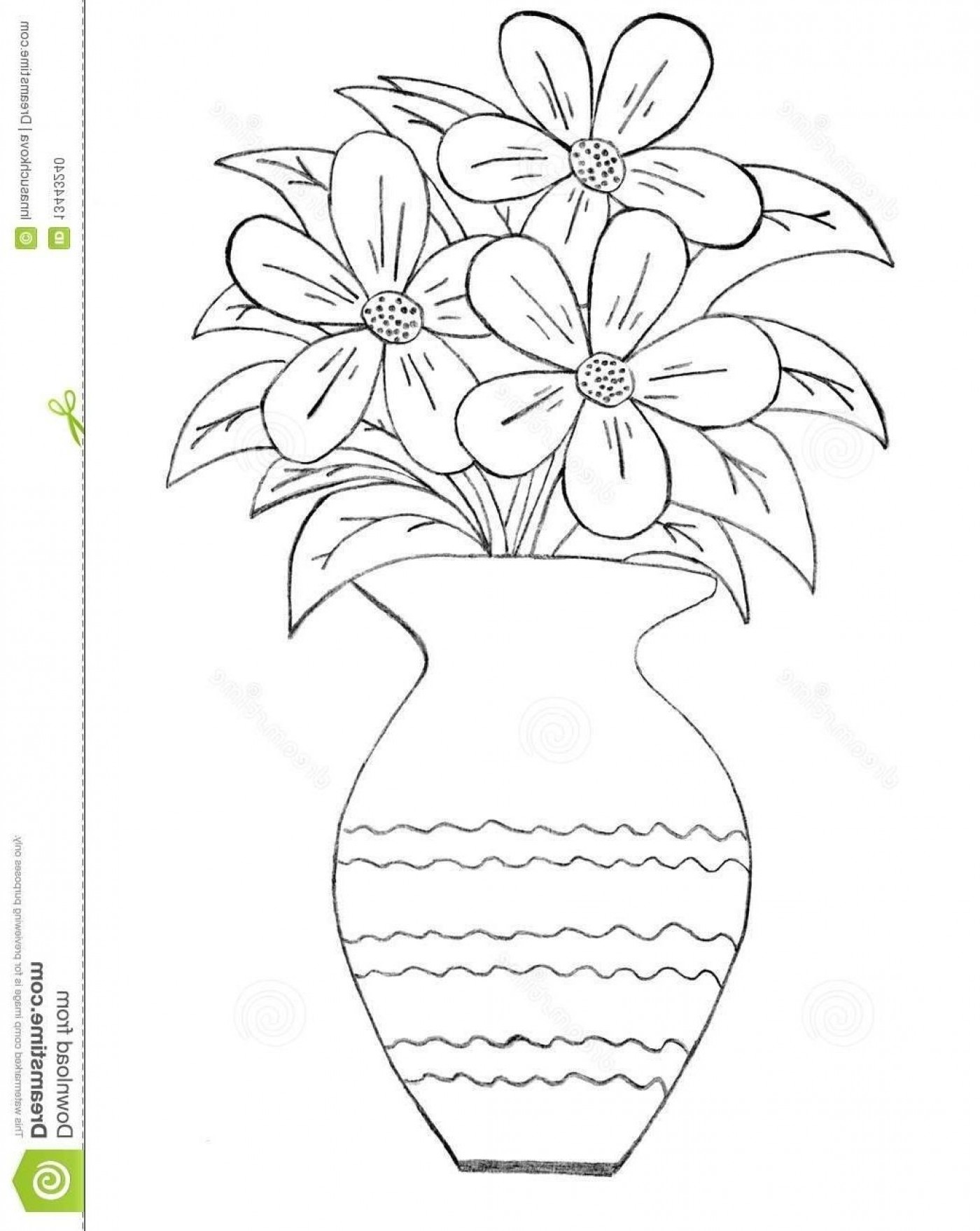 how to draw a bouquet of flowers in a vase stock vector flower coloring pages coloring pages bouquet to flowers a in draw of vase a how