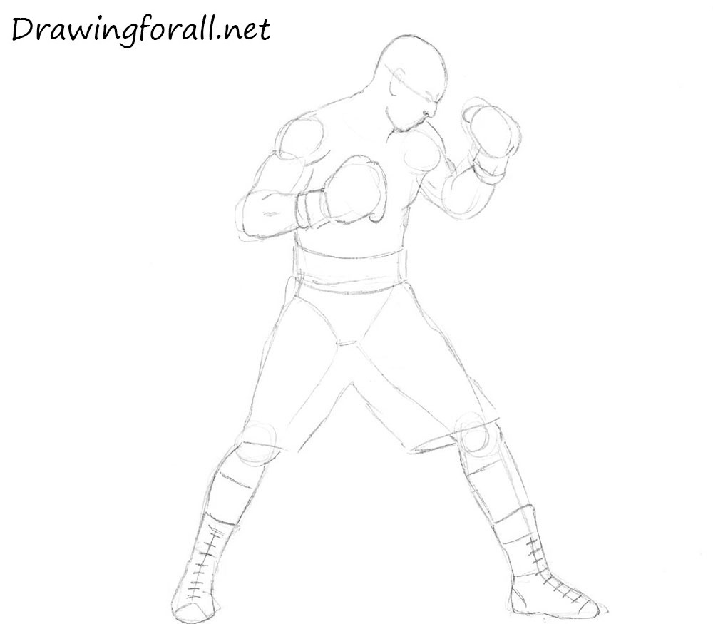 how to draw a boxer step by step how to draw a boxer for beginners drawingforallnet to boxer by step step draw a how