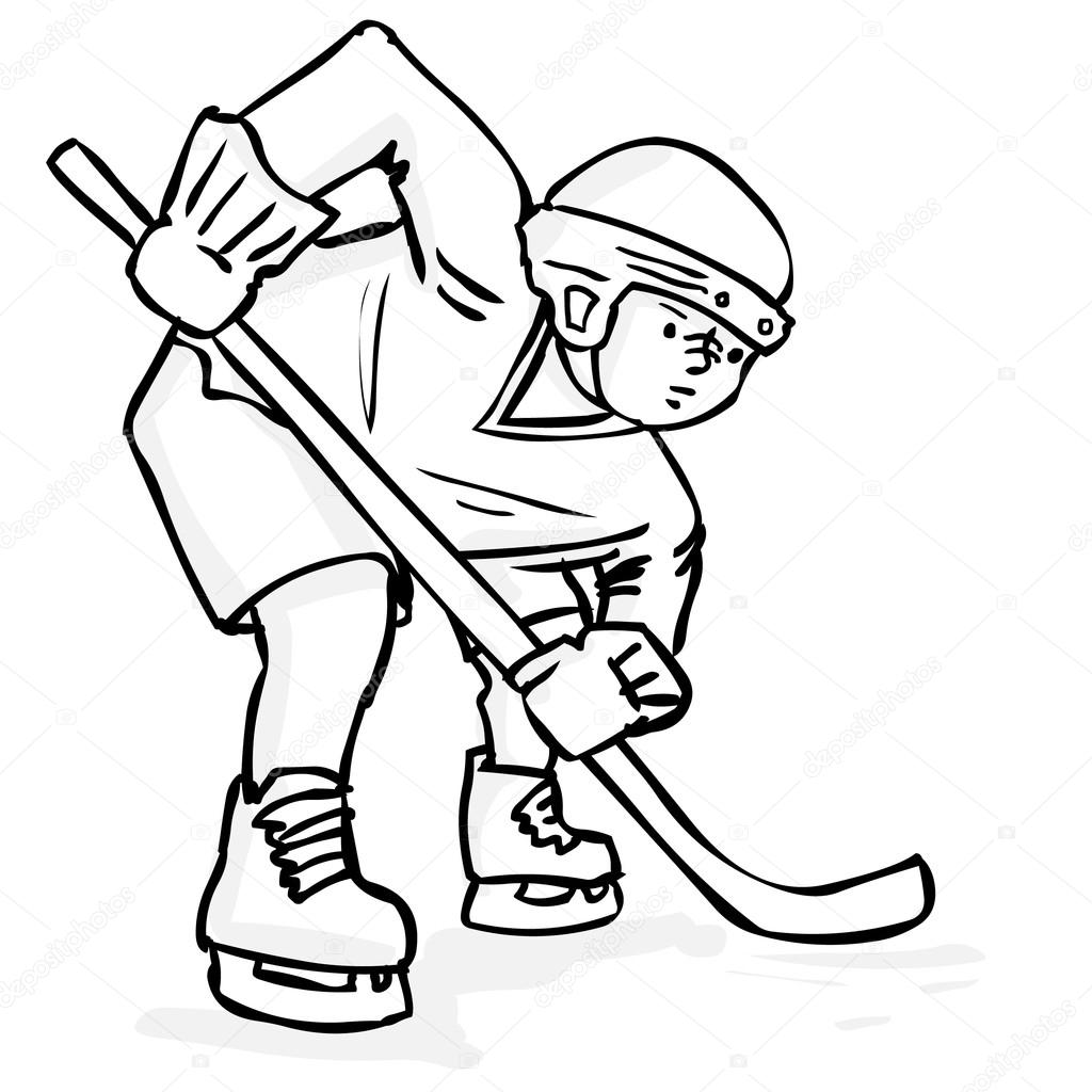 how to draw a cartoon hockey player hockey drawing at getdrawings free download to hockey draw a how cartoon player