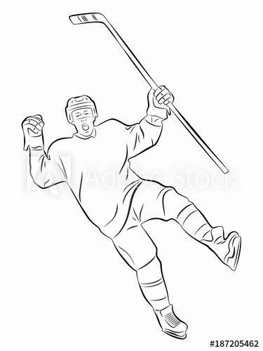 how to draw a cartoon hockey player hockey players drawing at getdrawings free download hockey how a to cartoon draw player