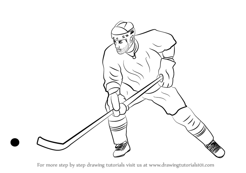 how to draw a cartoon hockey player how to draw a hockey player step by step drawing tutorials draw how a cartoon to player hockey