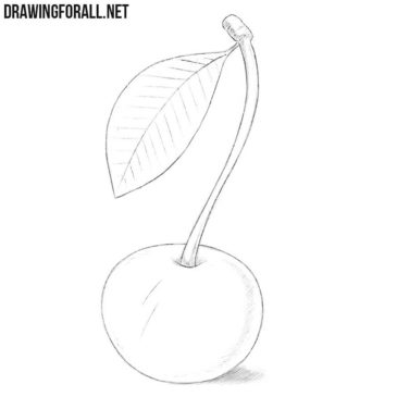 how to draw a cherry how to draw a cherry easy drawing art how to a cherry draw