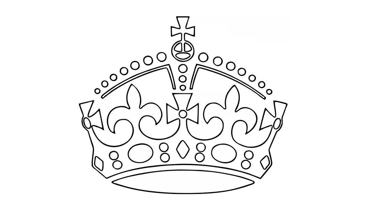 how to draw a crown easy princess crown drawing at getdrawings free download how a to crown draw 1 1