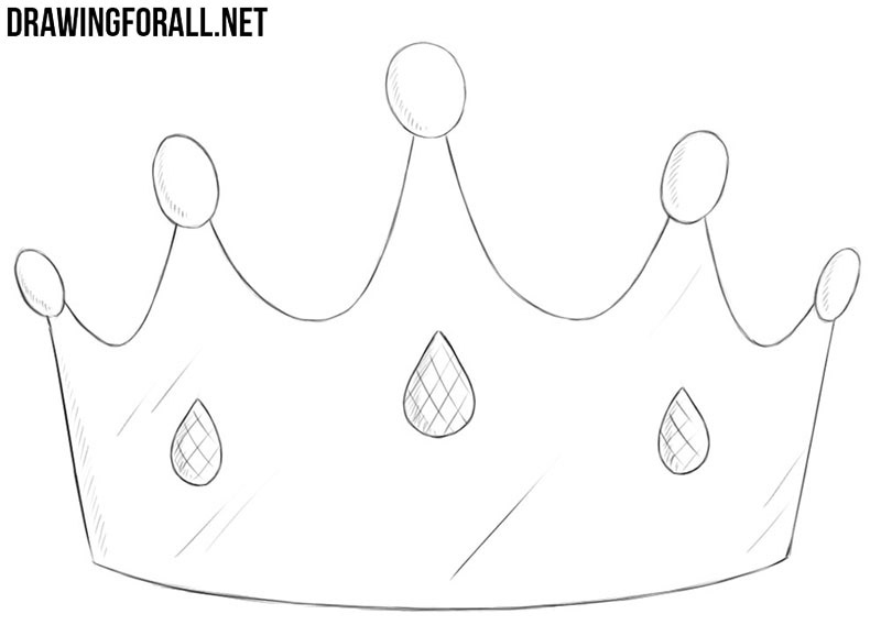how to draw a crown how to draw a crown draw how a crown to