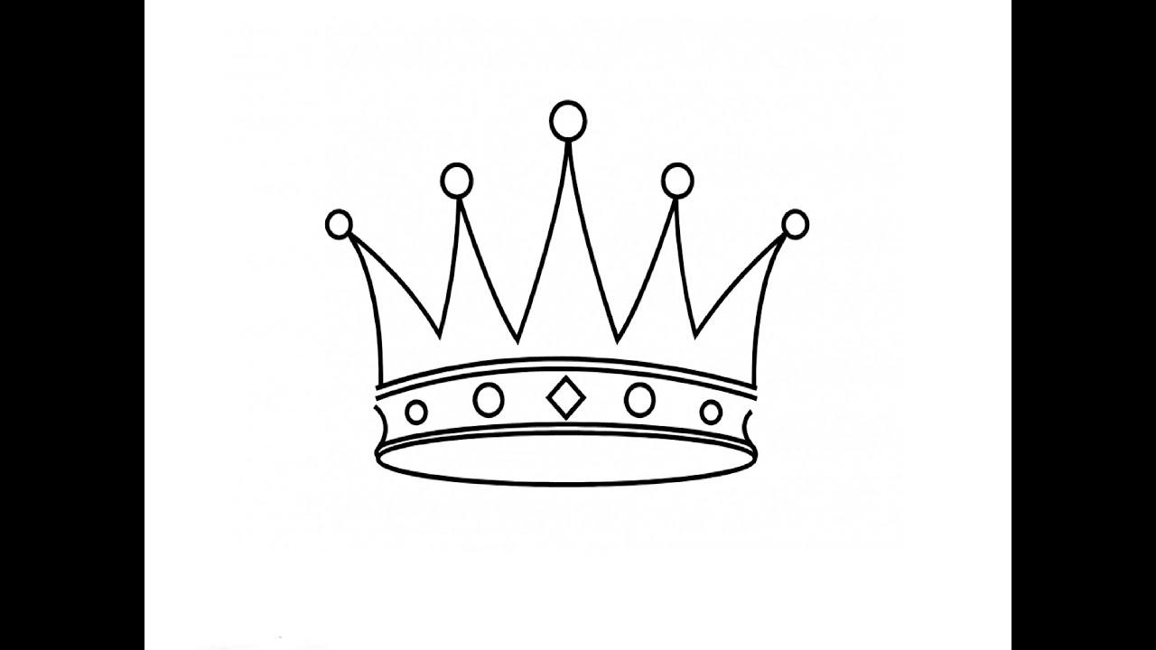 How to draw a crown
