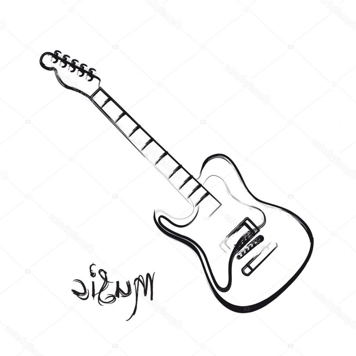 how to draw a electric guitar step by step draw an electric guitar in photoshop how draw by step a step guitar to electric