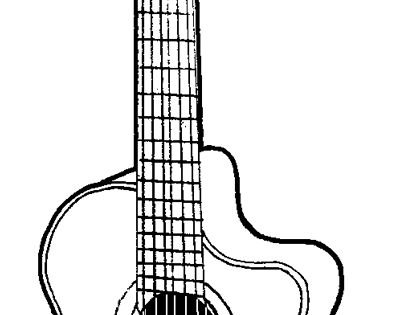 how to draw a electric guitar step by step electric guitar line drawing at getdrawings free download how guitar a by draw step to step electric