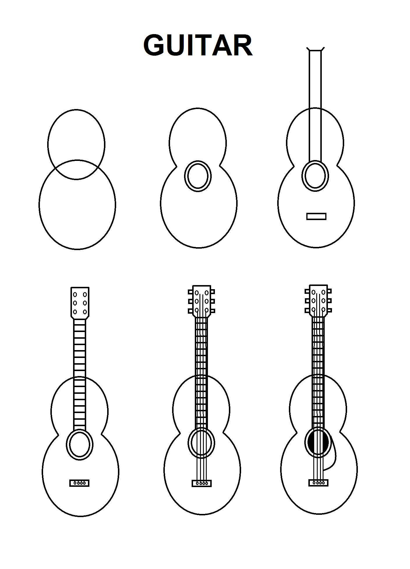 how to draw a electric guitar step by step guitar sketches drawing google search thread sketching how to electric step step by draw guitar a