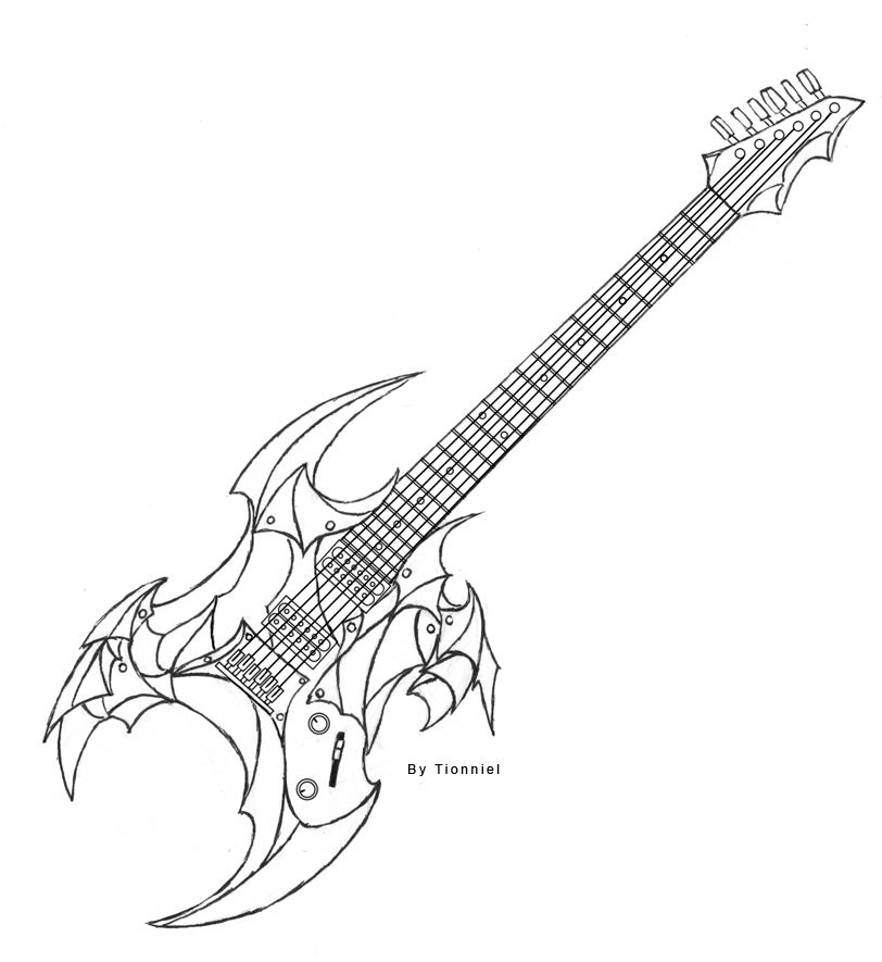 how to draw a electric guitar step by step how to draw a guitar with easy step by step drawing to step guitar a electric how step by draw