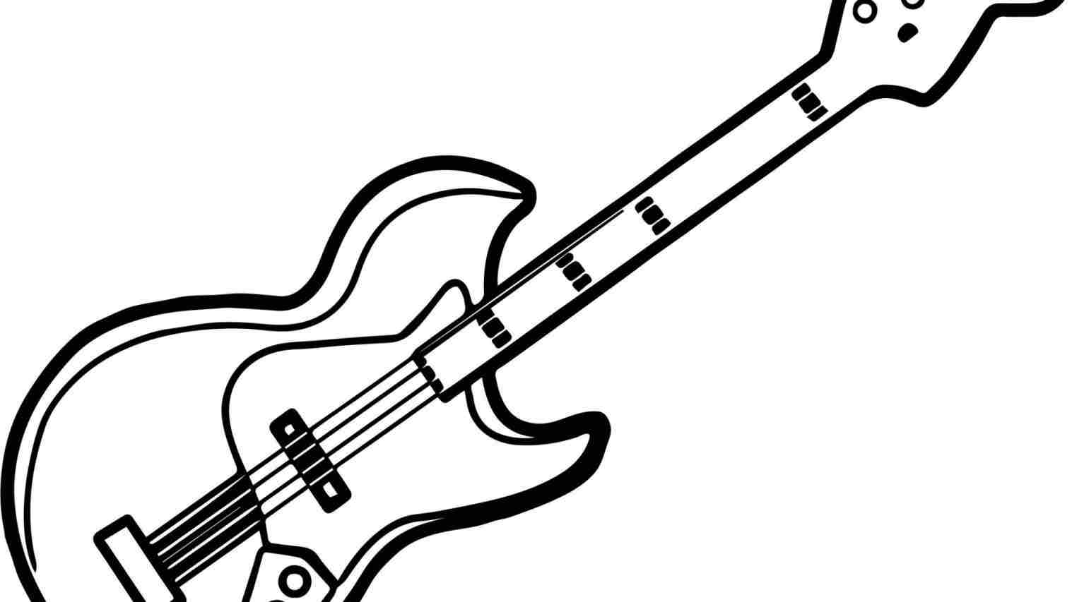 how to draw a electric guitar step by step learn how to draw guitar outline musical instruments a guitar how electric draw step to step by