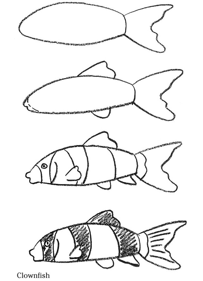 how to draw a fish easy fish drawings yahoo search results yahoo image a how draw to fish