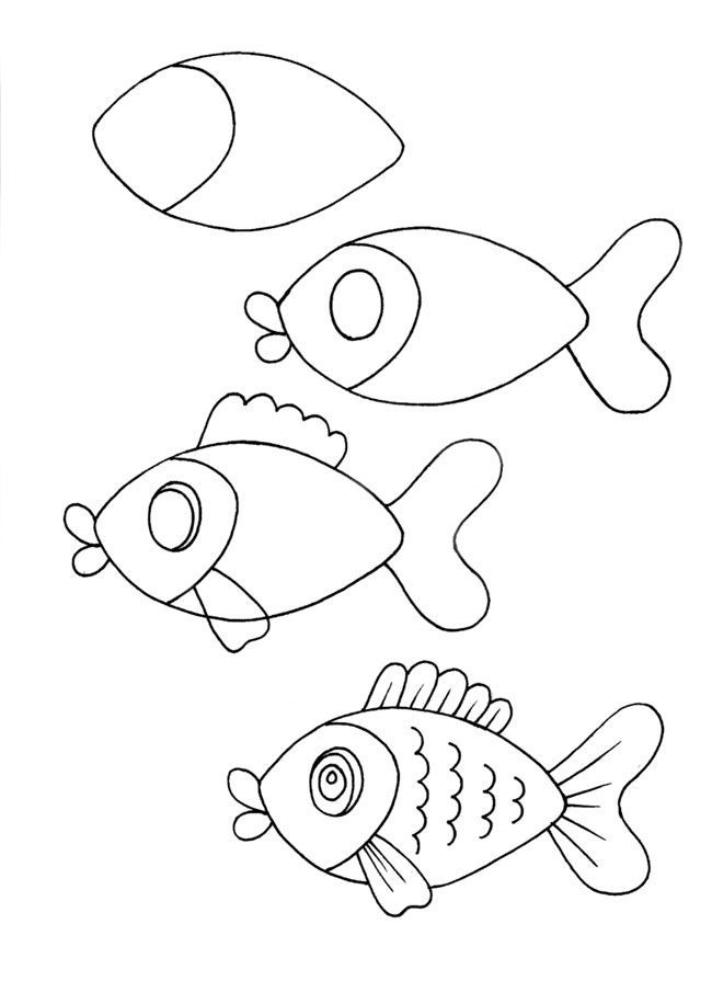 how to draw a fish fish pictures to color how to draw a bass step by step to a fish how draw