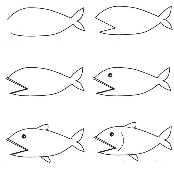 how to draw a fish how to draw a simple fish step by step with pencil part 4 a draw to fish how