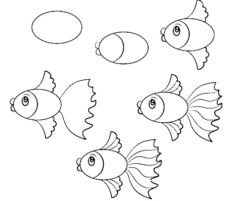 how to draw a fish how to draw fish how fish draw a to