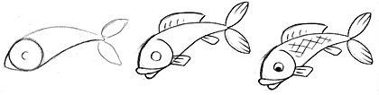 how to draw a fish koi fish drawing step by step at paintingvalleycom a draw how to fish