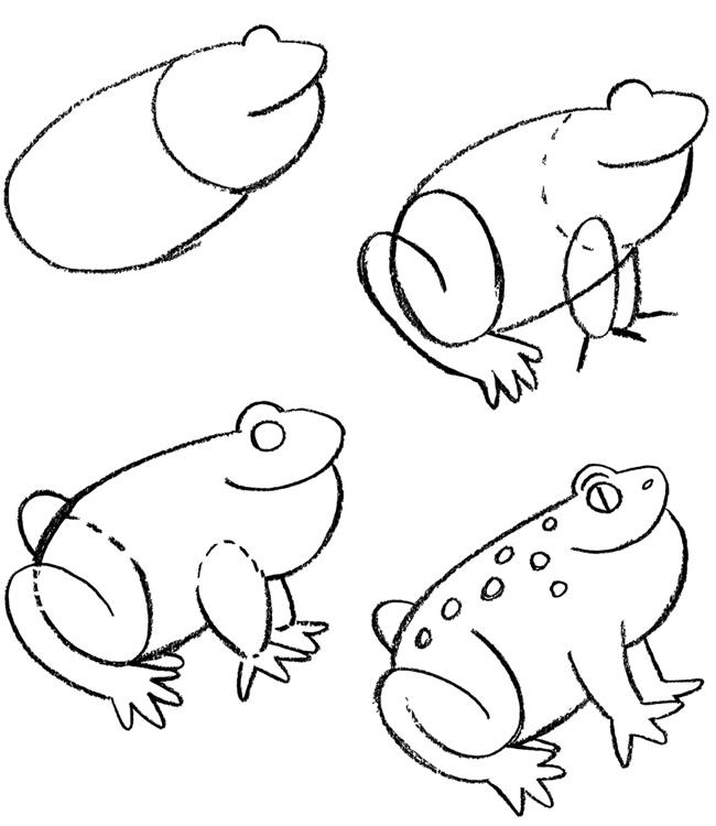 how to draw a frog easy frog worksheet basic pencil drawing lessons on how to draw easy to how a frog