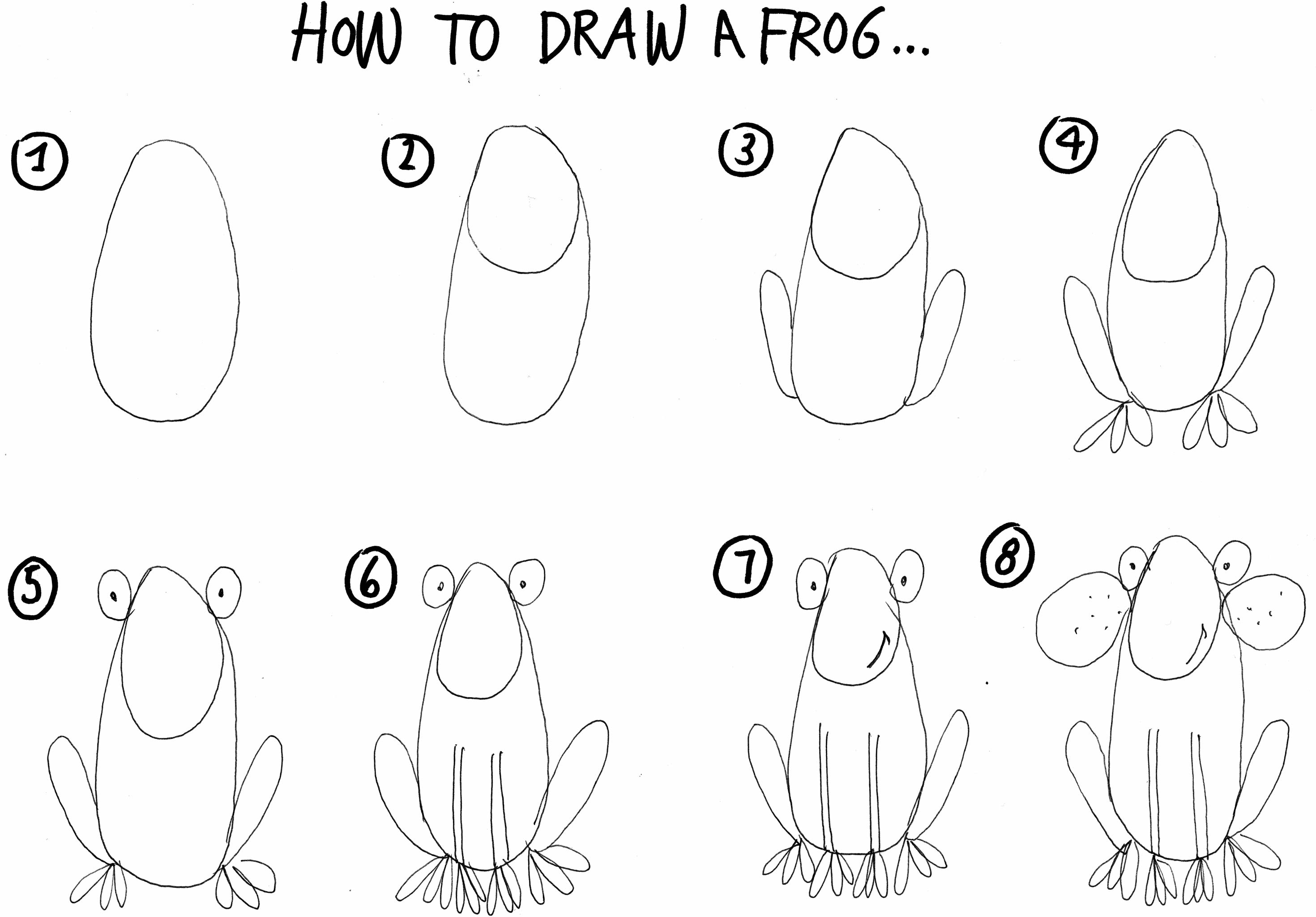 how to draw a frog easy how to draw animals for kids step by step with pencil do how draw frog to a easy