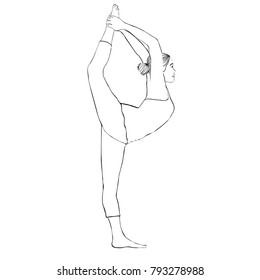 how to draw a girl doing the splits clipart graphic of a cartoon black and white lineart girl doing to the a how draw girl splits